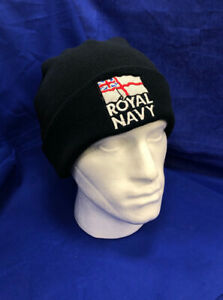 The Royal Navy RN Embroidered Beanie, British Navy Forces Logo Hat