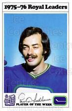 1975-76 Vancouver Canucks Royal Bank #3 Paulin Bordeleau