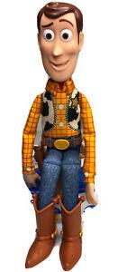 """Disney Pixar Thinkway Toy Story Woody Talking Pull String Woody  15"""" NO HAT/GUN"""