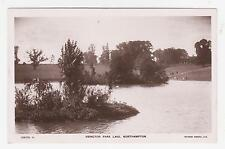 RPPC,Northampton,U.K.Abbington Park Lake,Northamptonshire,E.Midlands,Used,1909