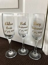 PERSONALISED CHAMPAGNE GLASS - WEDDING - BIRTHDAY - HEN PARTY - BABY SHOWER