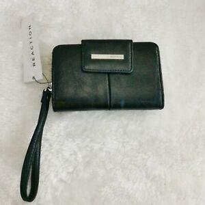 Kenneth Cole Reaction Women's Purse Wallet BNWT Black Wristlet Clutch New