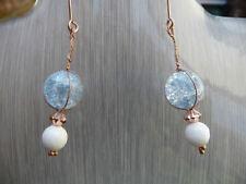 Quartz Blue Costume Earrings