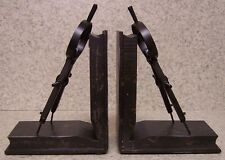 Bookends Medieval Industrial Revolution Antique Compass metal Pair Book Ends NEW