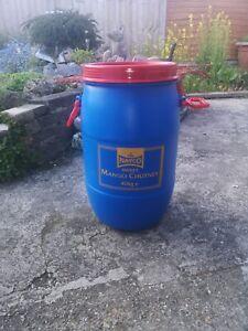 Plastic barrel 40kg- Loose Lid Storage Container Drum-Dry Goods read Description