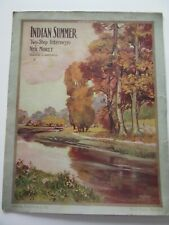 Indian Summer Two-Step Intermezzo 1909 sheet music by Neil Moret