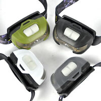 Q5 + 2 Red LED USB Rechargeable Mini Headlamp 5 Modes Headlight Flashlight Torch