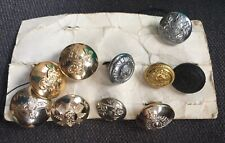 A Selection Of Military Buttons