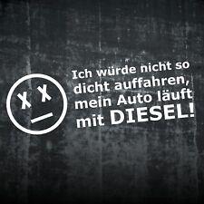 1x Achtung Diesel Aufkleber Auto Sticker Gefahr Fun Umwelt Vorsicht Folie 224