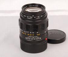 @CLA'd@ Leitz Tele-Elmarit 90mm f2.8 Black Chrome Leica M Mount Lens #014437
