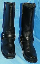 FRYE 77300 WOMEN'S MOTORCYCLE / HARNESS BLACK LEATHER RIDING BOOT SIZE 8.5M
