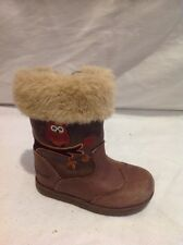 Girls Clarks Brown Leather Boots Size 4F