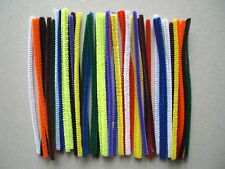Chenille craft stem pipe cleaners pack of 50 mixed colours 150mm x 4mm