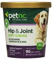 PetNC Natural Care Hip and Joint Soft Chews for Dogs | 90 Count