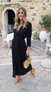 Zara Off Black Shirt Dress Size Xs