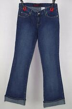 Mudd Jeans Juniors Dark Wash Cuffed Flare Jeans Size 7