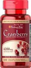 Cranberry Fruit Concentrate with C &E 4200 mg x 100 Softgels EXPIRY DATE 04.2019