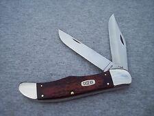 CASE XX * WOOD JIGGED HANDLE LARGE FOLDING HUNTER KNIFE KNIVES