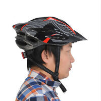 Cycling Bicycle Adult Mens Bike Helmet Red carbon color With Visor Mountain UK