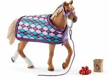 Horse Club 42360 Schleich English Thoroughbred Figure With Blanket