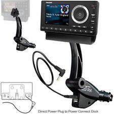 Dual Usb Sirius Xm Satellite Radio Lighter Socket Car Mount w/ Tilt Vehicle Onyx