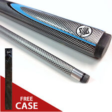 "NEW SILVER 57"" Inch Graphite Composite Pool Snooker Billiard Cue FREE CASE Gift"