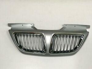 Hood Grille Chrome Sleek Silver For 2008 2010 Hyundai Sonata Transform