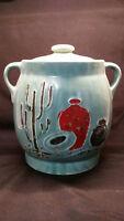 Vintage Cookie Jar-Shawnee Pottery-Southwestern Cactus Sombrero w/ original lid