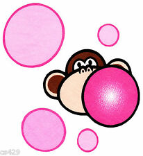 "4"" Bobby jack monkey burst my bubble wall safe fabric decal cut out character"