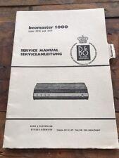 Beomaster 1000 Typ 2316,2317 - Radio Service Manual b&o - L89