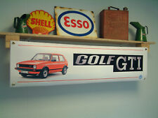 Volkswagen MK1 Golf GTI Banner VW workshop Garage Car Show Display