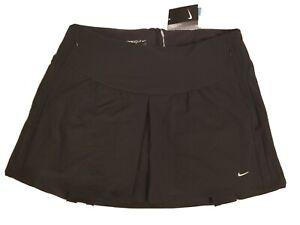 New $100 Nike Golf Tour Premium Womens Black Skort Pleated Skirt Dri-Fit Size 12