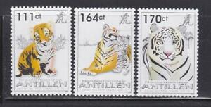 WCAT32  - WILD CATS ANIMALS STAMPS ANTILLEN NETHERLANDS CHINESE YEAR TIGER MNH