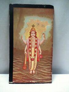 "Vintage Cigarette Card Crown Tobacco Co Bombay Vishnu Ravi Varma Lithograph ""6"