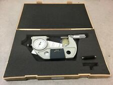 Mitutoyo 510-123 Dial Indicating Micrometer, Ratchet Stop, 50-75 mm Range