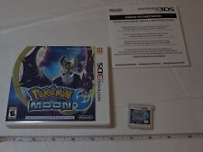 Pokémon Moon Nintendo 3DS 2016 RARE game Everyone ESRB 2D gameboy Pokemon case