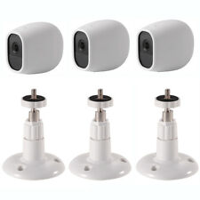 3 Packs Silicone Skins White + Security Camera Wall Mounts For Arlo Pro Camera