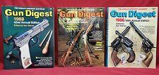 Lot of 3 Gun Digest Catalogs, 1986, 1984, & 1988