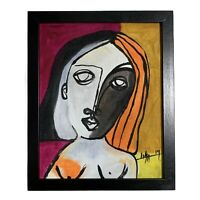 "PAINTING ACRYLIC ON CANVAS PANEL (FRAME INCLUDED) CUBAN ART  8""X10"" By LISA."
