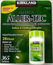 Kirkland Signature Allergy Aller-Tec Cetirizine HCI 10 mg Zyrtec, 365 Tablets