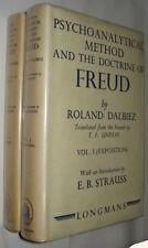 R. DALBIEZ. Psychoanalytical Method Doctrine Freud 1941 In two volumes. First ed
