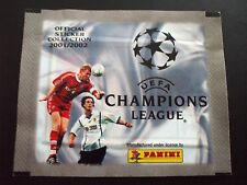 BUSTINA PACKET SOBRE FIGURINE PANINI UEFA CHAMPIONS LEAGUE 2001-2002