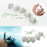 5Pcs Bait Cage Fishing Trap Basket Feeder Holder Fishing Tool Tackle Accessory