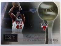 2005 Upper Deck ESPY Award Winners Michael Jordan #MJ1, Best Comeback Athlete