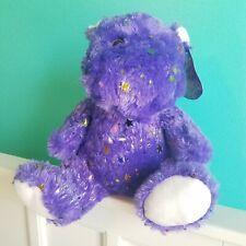 Kellytoy Hippo 11in Plush Purple Glitters Stars Stuffed New Year Decorations New