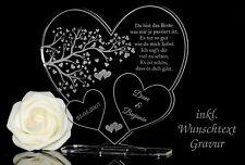 """Aufsteller 3 Herzen """"Baum""""  inkl. Gravur Geschenkidee Hochzeit Valentinstag Love"""