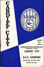 EC II Semi Final 67/68 Cardiff City - Hamburger SV, 01.05.1968