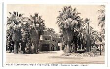 Hotel Alessandro, Hemet, CA Postcard