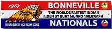 La Más Rápida Del Mundo India Letrero De Metal, Bonneville Salt Flats velocidad week.burt Munro