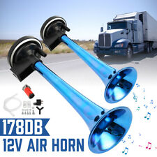 Universal 178dB 12V Air Horn Super Loud Dual Trumpet Compressor Car Boat Truck